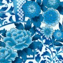 Korakeun Collection - Elegant Floral Fan fabric