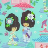 Geisha Girl - Small Scale Geishas on Green