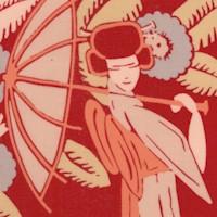 Nakamura Garden - Elegant Geishas on Red