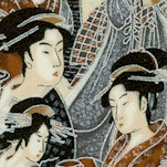 Imperial Collection 12 -Elegant Packed Geishas with Silver Metallic Highlights