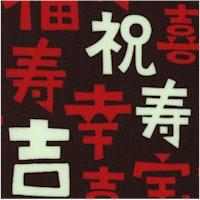 Kawaii Asian - Japanese Caligraphy on Black