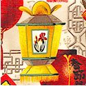 Good Fortune - Asian Lanterns on Cream