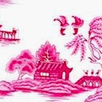 Little Island - Asian Scenes in Pink and Ivory