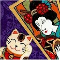 Orimono Collection - Gilded Asian Motifs on Purple
