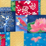 Nara - Gilded Oriental Patchwork Collage