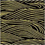 Mandalay - Gilded Asian Waves on Black
