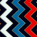 Patriotic Pop - Gilded Chevron Vertical Stripe