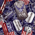 Packed Air Force Dog Tags