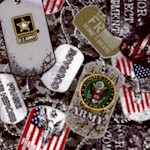 Packed Army Dog Tags
