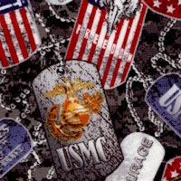 Packed Unite States Marine Corps Dog Tags