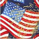 Patriots- Waving Flags with Metallic Gold Fireworks