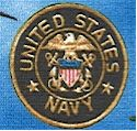 United We Stand - United States Navy on Blue by Dan Morris -- LIMITED YARDAGE AVAILABLE IN TWO PIECE
