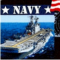 Military Prints - Navy Collage- LTD. YARDAGE AVAILABLE