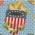 Young Patriots - Gilded Vintage Look Tossed Americana - LTD. YARDAGE AVAILABLE IN 2 PIECES