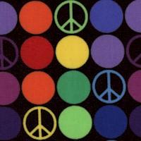 Peace - Rainbow Polka Dots and Peace Signs