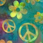 Batik Peace Signs
