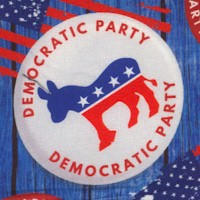 Democrat Tossed Buttons (Digital)
