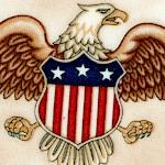 Pride and Glory - American Symbols on Beige by Dan Morris
