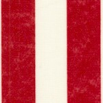 Patriotic Red and Antique White Vertical Stripe