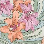 Age of Innocence - Delicate Art Nouveau Floral Coordinate