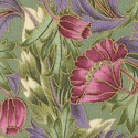 Windsor Collection - Delicate Gilded Flowers on Lavender