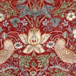 Kelmscott Strawberry Thief on Red - Large by Morris & Co.