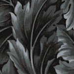 William - Medium Scale Acanthus Leaves - Charcoal