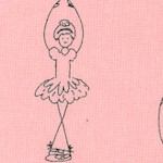 Twirl - Adorable Ballerinas on Pink by Jill Finley