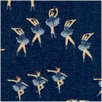 Black Swan - Small Scale Ballerinas on Navy Blue