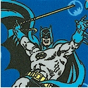 Batman - Characters and Logos on Blue FLANNEL