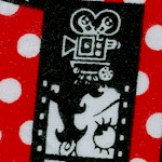 Betty Boop Film Strips on Polka Dots FLANNEL - 42-43 inches wide