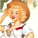 Back in the Saddle - Western Pinups on Ivory