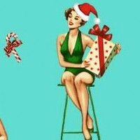 Under the Mistletoe - Christmas Darlings on Aqua (Digital)