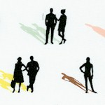 Distrikt - People with Colorful Shadows by Erin McMorris