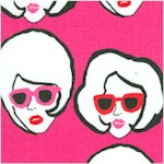 Fashion Statement - Gilded Retro Faces on Pink