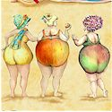 More Fruit Ladies...Tossed on the Beach!  - BACK IN STOCK!