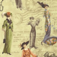 A Ladies' Diary - Vintage Women's Fashions on Green by Graphic 45