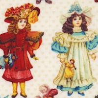 Victorian Paper Dolls on Ivory