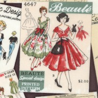 Sew Dressed Up - Tossed Retro Sewing Patterns
