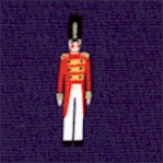 Toy Soldier in Small Scale on Navy Blue