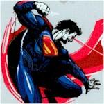 Batman v Superman - Tossed Superman in Action