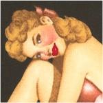 Sweethearts - Romantic Retro Pin Ups on Black