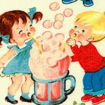Candy Shop - Vintage Kids and Sweet Treats on Cream - BACK IN STOCK!