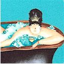 Fabulous Tub Ladies on Turquoise by Jennifer Garant