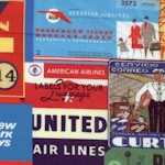 Library of Rarities - Vintage Airline Tickets, Tags and Logos Collage