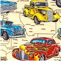 On the Road - Vintage Cars on US Map#2 by Dan Morris - BACK IN STOCK!