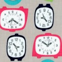 Gracie Girl - Retro Clocks on Silver