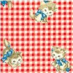 Dear Little World - Pocket Kitten on Red Gingham