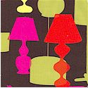 Kelly's Lamp - Retro Lamps on Chocolate Brown