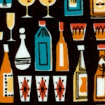 Mother's Little Helper Retro Small Scale Bottles and Cocktails